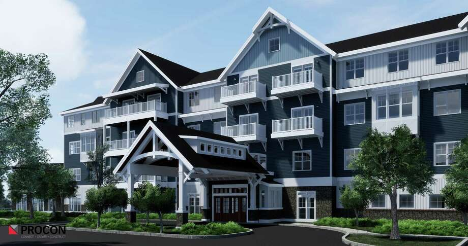 Construction of the new Brightview Senior Living facility in Shelton is moving along as developers prepare to bring 161 units of senior housing to the city. Photo: Jmize Contributed Photo / Contributed Photo / Connecticut Post Contributed