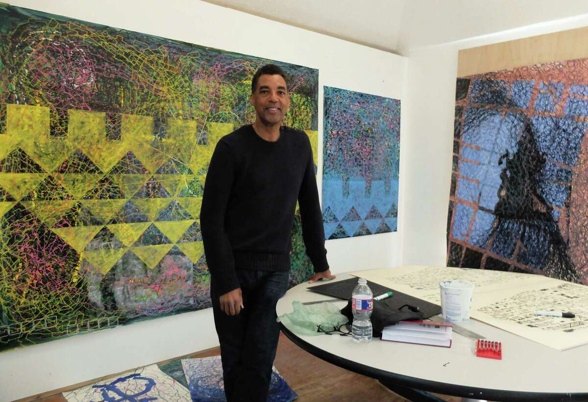 Rick Lowe in his studio at Project Row Houses on Monday, Dec. 3, 2018.