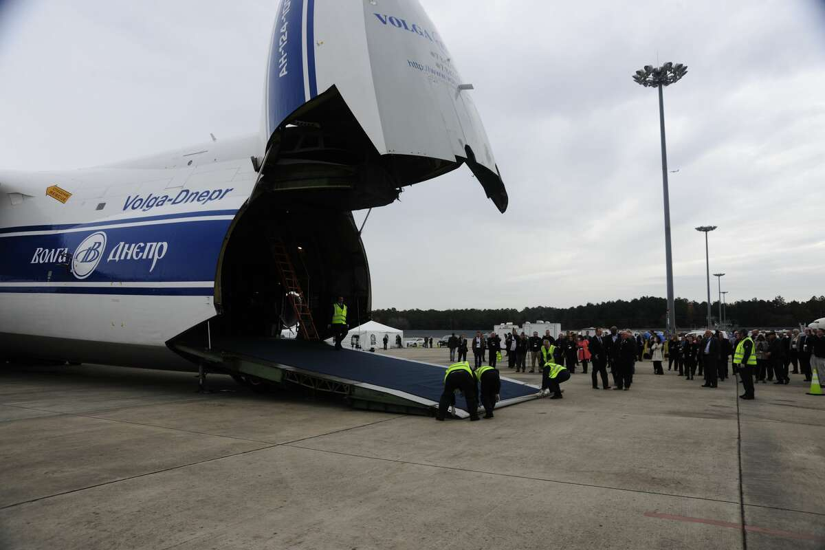 Russian company Volga-Dnepr Group is dedicating one of its Antonov AN-124-100 planes to Houston as it opens an operations base at Bush Intercontinental Airport. >>Check out some of the wide variety of planes that land and take off from Houston airports...