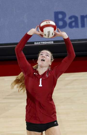 Stanford's Jenna Gray blends volleyball and javelin