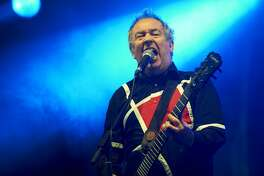 Pete Shelley of Buzzcocks performs on stage during the second day of FOM Fest at Capesthorne Hall on May 21, 2011 in Macclesfield, United Kingdom. (Photo by Gary Wolstenholme/Redferns)