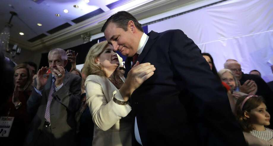 Sen. Ted Cruz, R-Texas, is hugged by his wife, Heidi, during an election night victory party, Tuesday, Nov. 6, 2018, in Houston. (AP Photo/David J. Phillip) Photo: David J. Phillip, STF / Associated Press / Copyright 2018 The Associated Press. All rights reserved