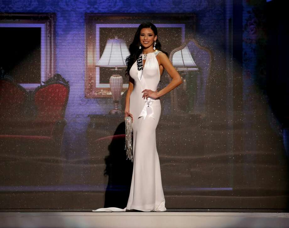 BATON ROUGE, LA - JULY 12:  Miss Texas Ylianna Guerra poses onstage at the 2015 Miss USA Pageant Only On ReelzChannel at The Baton Rouge River Center on July 12, 2015 in Baton Rouge, Louisiana.  (Photo by Josh Brasted/Getty Images for Miss USA) Photo: Josh Brasted