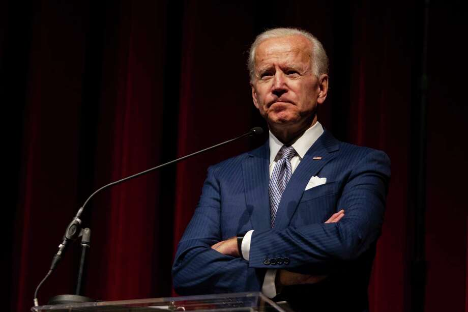 FILE - In this Saturday, Dec. 1, 2018 file photo, former Vice President Joe Biden speaks during the UNLV William S. Boyd School of Law 20th Anniversary Gala at the Bellagio Casino in Las Vegas. On Monday, Dec. 4, 2018, Biden said he believes that he is the most qualified person in the country to be president. (Yasmina Chavez/Las Vegas Sun via AP) Photo: Yasmina Chavez, AP / Las Vegas Sun