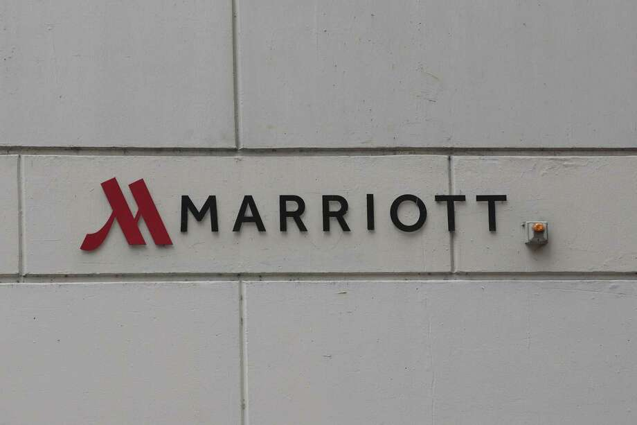 CHICAGO, IL - NOVEMBER 30:  A sign marks the location of a Marriott hotel on November 30, 2018 in Chicago, Illinois. Marriott says their Starwood guest reservation database was hacked, compromising the security of private information for up to 500 million hotel customers.  (Photo by Scott Olson/Getty Images) Photo: Scott Olson / 2018 Getty Images