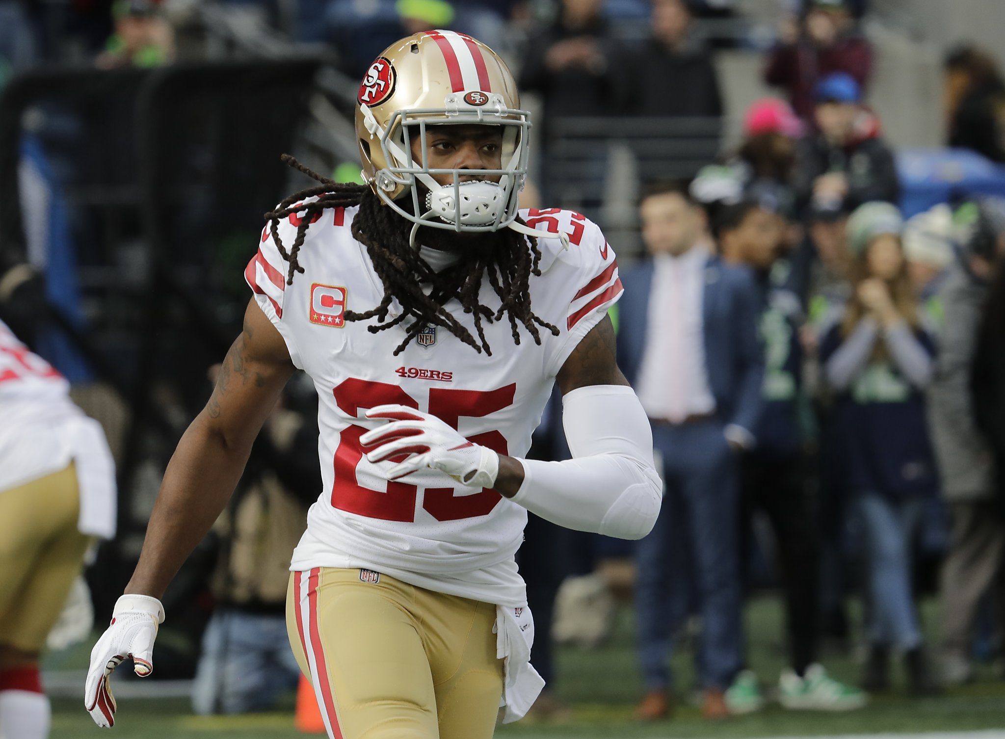 91b934740 49ers  Richard Sherman could switch from corner to safety to finish career