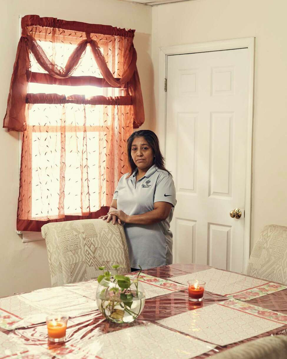 Victorina Morales at her home in Bound Brook, N.J., Nov. 2, 2018. At the president?'s New Jersey golf course, Morales, an undocumented immigrant, has worked as a maid since 2013. She said she never imagined she ?