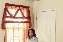 """Victorina Morales at her home in Bound Brook, N.J., Nov. 2, 2018. At the president?'s New Jersey golf course, Morales, an undocumented immigrant, has worked as a maid since 2013. She said she never imagined she ?""""would see such important people close up.?"""" (Christopher Gregory/The New York Times)"""
