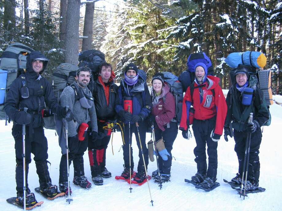 Herb Terns, far right, takes part in Winter Mountaineering School in 2011. Participation in the program was a gift from his wife, outdoors writer Gillian Scott. (Photo provided by Herb Terns)