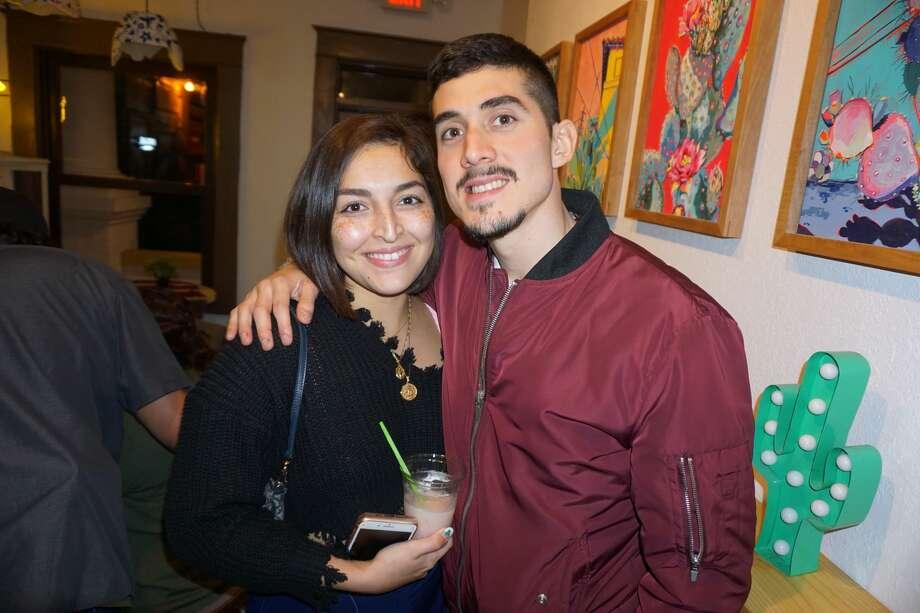 Allison and Wayo Romero at Cultura Beer Garden Friday, December 7, 2018 Photo: Jose Gustavo Morales