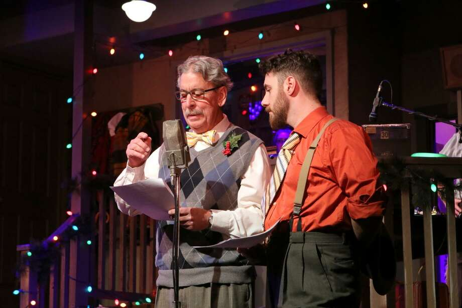 "Norm Rutty and Michael Hinton in a rehearsal for ""Coney Island Christmas."" Photo: Anne Hudson / Ivoryton Playhouse"