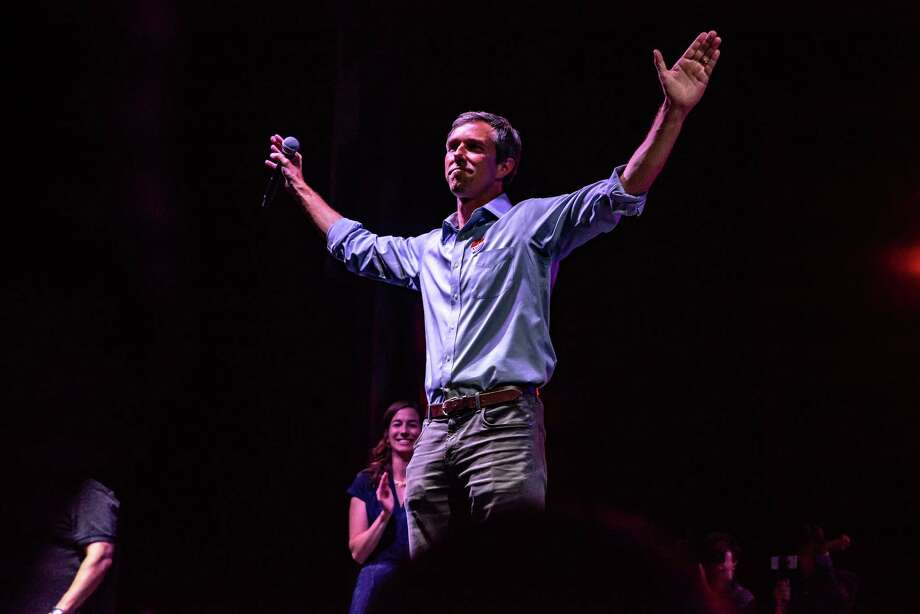 Rep. Beto O'Rourke, D-Texas, during a concession speech at an election night rally in El Paso, Texas, on Nov. 6, 2018. Photo: Bloomberg Photo By Sergio Flores. / © 2018 Bloomberg Finance LP