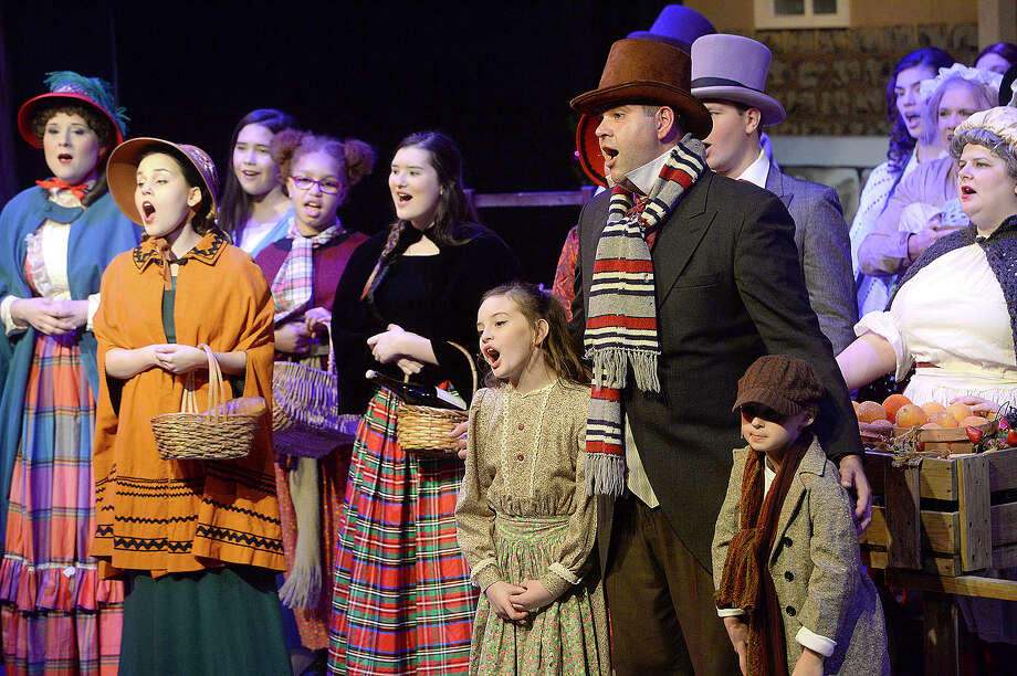 "Beaumont Community Players take the stage for Thursday night's performance of its popular production ""Scrooge The Musical"" at the Betty Greenberg Center for Performing Arts.  Photo taken Thursday, December 6, 2018 Kim Brent/The Enterprise Photo: Kim Brent/The Enterprise"