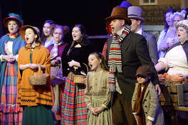 """Beaumont Community Players take the stage for Thursday night's performance of its popular production """"Scrooge The Musical"""" at the Betty Greenberg Center for Performing Arts. Photo taken Thursday, December 6, 2018 Kim Brent/The Enterprise"""
