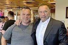 Arnold Schwarzenegger at Killen's BBQ 2018