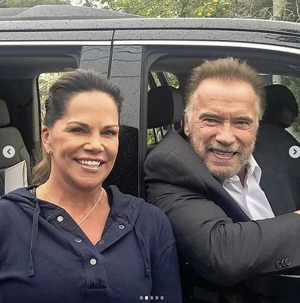Arriving at around 12:30 p.m., 71-year-old Schwarzenegger and his group, who were at the restaurant for approximately an hour.