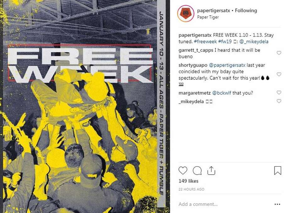 Paper Tiger has announced the dates of its free week in 2019. Click through the slideshow to see photos from the 2017 free week. Photo: Instagram Screengrab