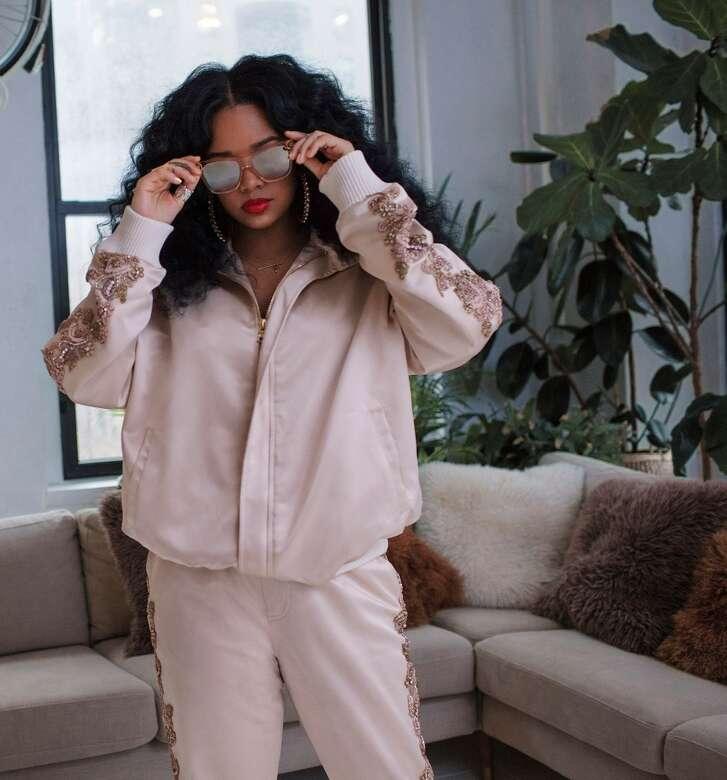 R&B singer H.E.R. is up for several Grammys.