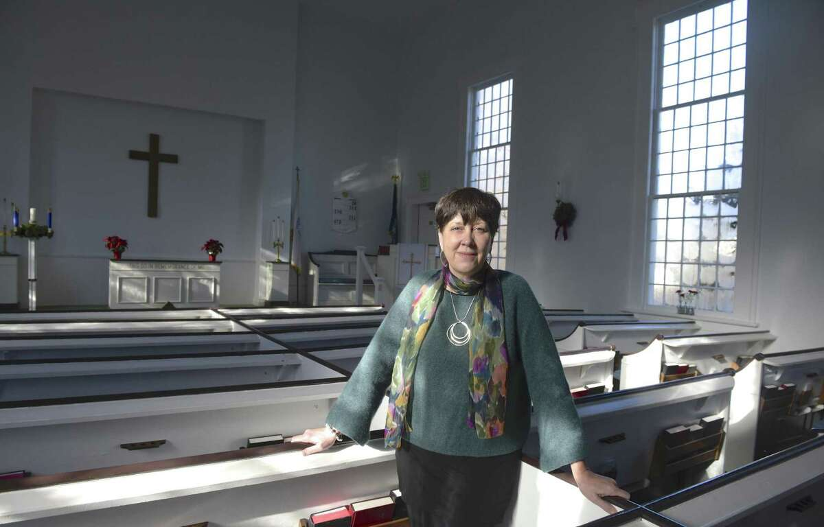 Rev. Deborah Rundlett is the new pastor of the Ridgebury Congregational Church, Ridgefield, Conn. Wednesday, December 5, 2018.