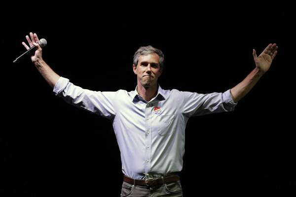 FILE - In this Nov. 6, 2018, file photo, Rep. Beto O'Rourke, D-Texas, the 2018 Democratic candidate for U.S. Senate in Texas, makes his concession speech at his election night party in El Paso, Texas. Texas has long been a pipeline for Republican presidential candidates like nowhere in the nation. But it's two of the state's rising stars from the other party who look poised to take 2020 shots at the White House. Former San Antonio Mayor Julian Castro says he's likely to run, while O'Rourke has done an about-face and isn't ruling one out a bid either, after nearly upsetting Republican Ted Cruz in a Senate race that became highly-watched nationally. (AP Photo/Eric Gay, File)