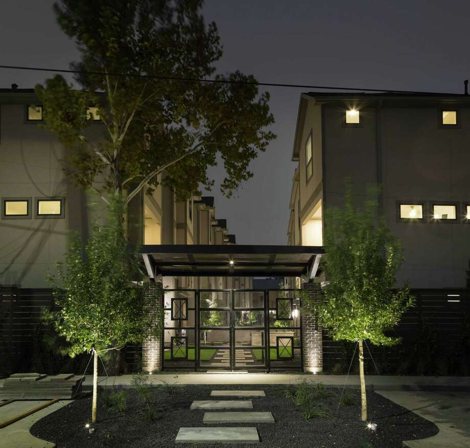 The courtyard is intended to make the project stand out. Photo: Riverway Homes