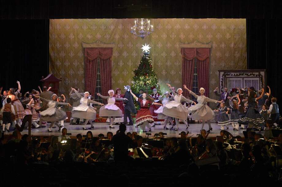 Fallyn Kirlin, center, of Newtown, dances the part of Clara in the Danbury Music Center's 51st production of The Nutcracker Ballet. The production runs at 2:30 p.m. and 7 p.m on Saturday and 3 p.m. on Sunday, in the Danbury High School auditorium. Previous show times reported were incorrect. Tickets can be purchased at the door or at www.danburymusiccenter.org. Photo: H John Voorhees III / Hearst Connecticut Media / The News-Times