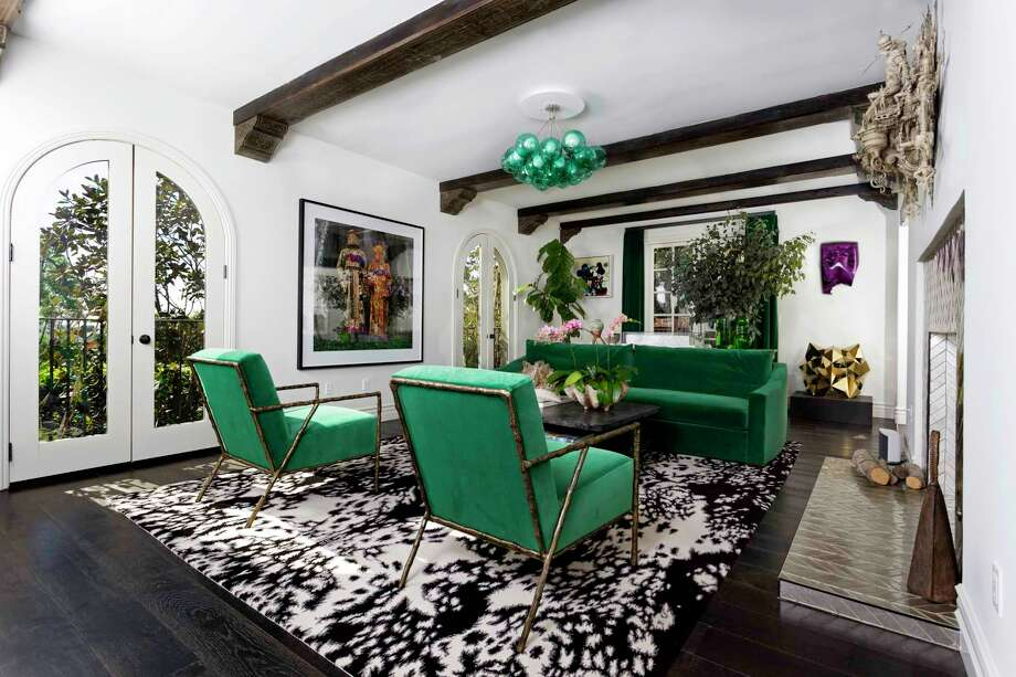 R&B superstar Usher has sold his Spanish-style home above the Sunset Strip for $3.3 million. Built in 1926, the two-story house has been updated with colorful details while retaining original features such as stenciled beams. (Jeffrey Ong) Photo: Jeffrey Ong / Los Angeles Times