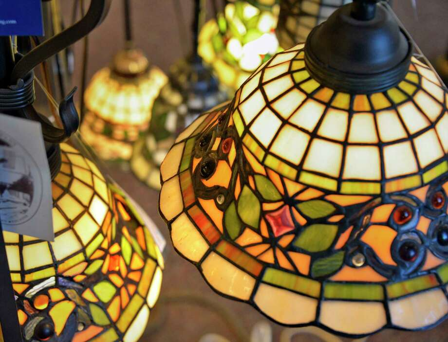 Stained glass lamps in the showroom at Wolberg Lighting Design and Electrical Supply Wednesday Dec. 5, 2018 in Albany, NY.  (John Carl D'Annibale/Times Union) Photo: John Carl D'Annibale / 20045619A