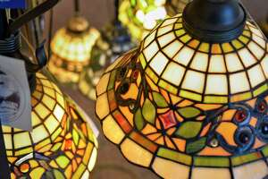 Stained glass lamps in the showroom at Wolberg Lighting Design and Electrical Supply Wednesday Dec. 5, 2018 in Albany, NY. (John Carl D'Annibale/Times Union)