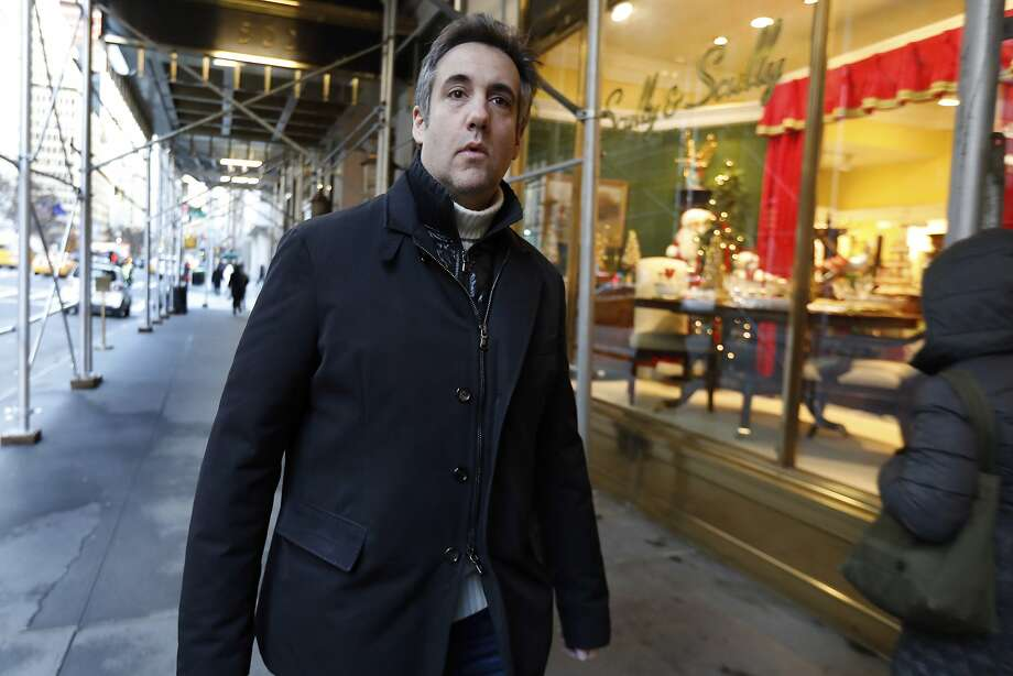 Michael Cohen, former lawyer to President Donald Trump, leaves his apartment building on New York's Park Avenue, Friday, Dec. 7, 2018. In the latest filings Friday, prosecutors will weigh in on whether Cohen deserves prison time and, if so, how much. (AP Photo/Richard Drew) Photo: Richard Drew / Associated Press