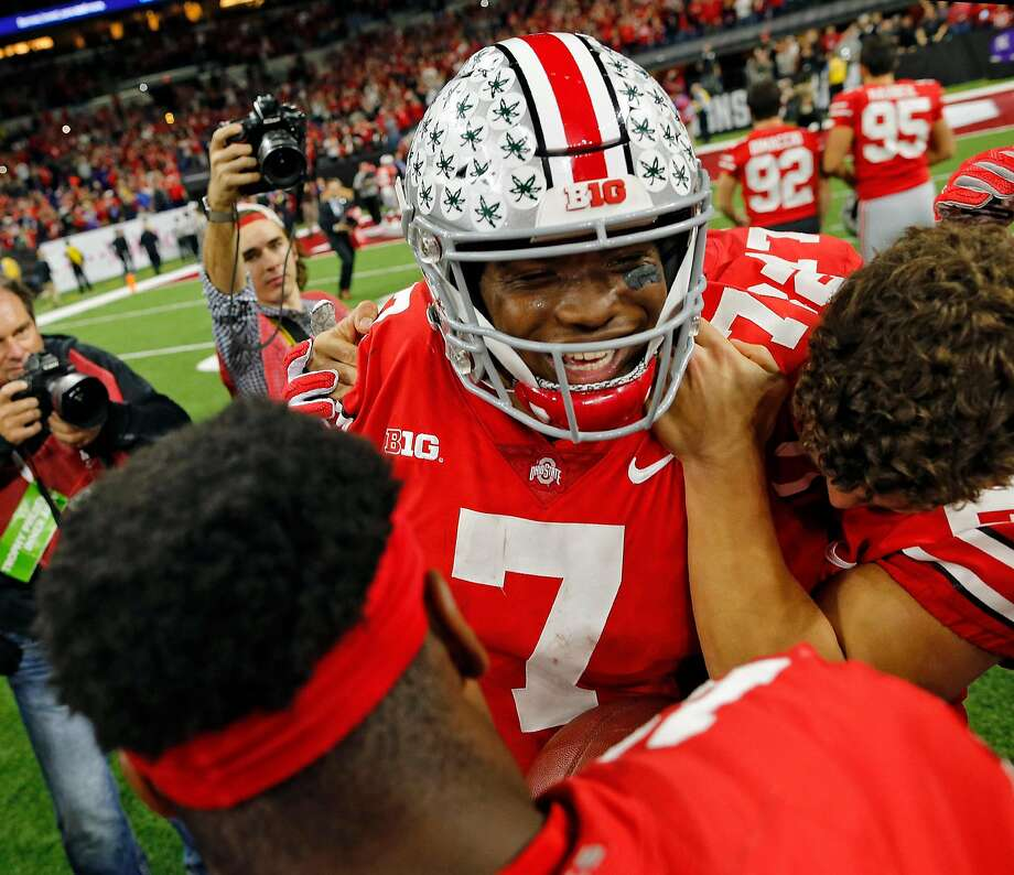 Ohio State QB Dwayne Haskins Jr. was the Big Ten offensive player of the year and the MVP of the Big Ten title game. Photo: Kyle Robertson / Columbus Dispatch