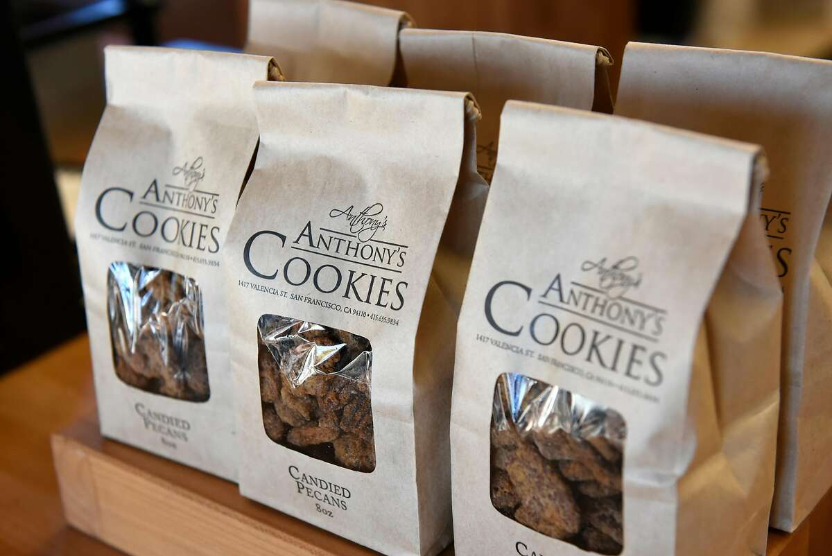 Bags of cookies on display at Anthony's Cookies shop and bakery in Berkeley, CA, on Friday November 2, 2018.
