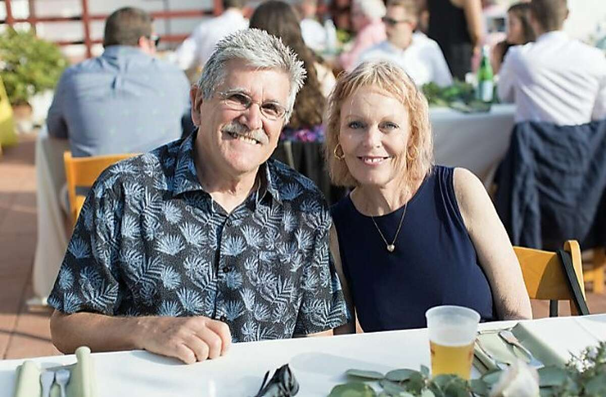 Beverly Powers, 64, and Robert Duvall, 76, at a friend's wedding in July.