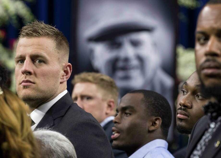 Familiar faces at Bob McNair's celebration of life