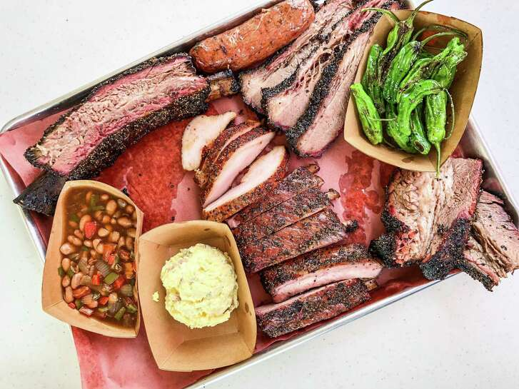 Tray of barbecue at Reveille Barbecue Co.