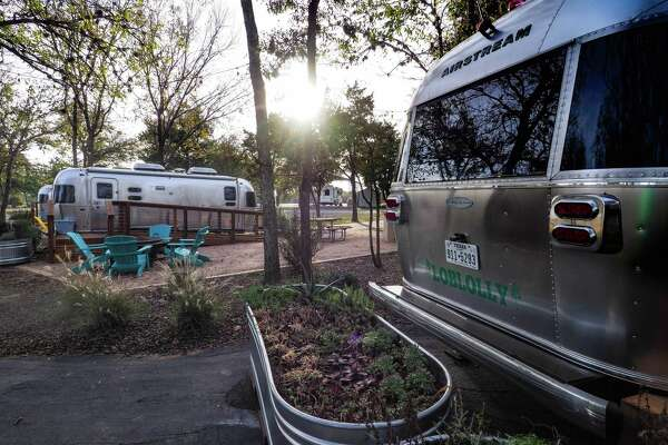 Checking into Lake Bastrop's new Airstream trailer compound