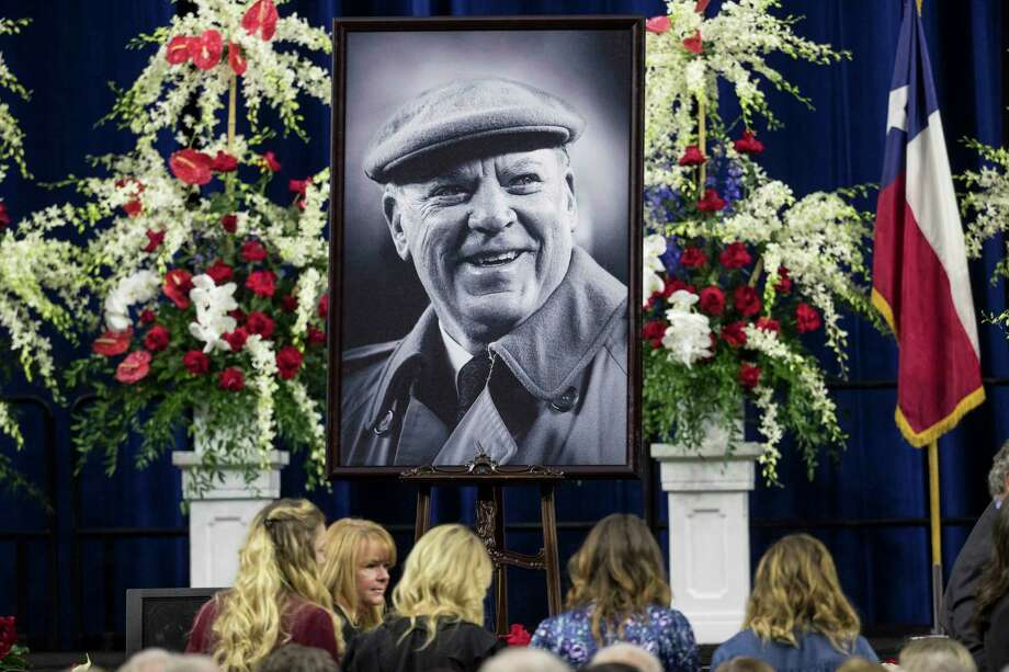 A portrait of Houston Texans founder Robert C. McNair is placed on stage during a public celebration of his life at NRG Stadium, Friday, Dec. 7, 2018, in Houston. McNair, who brought the NFL back to Houston after the Oilers left for Tennessee, died on Nov. 30 at the age of 81. Photo: Brett Coomer, Staff Photographer / © 2018 Houston Chronicle