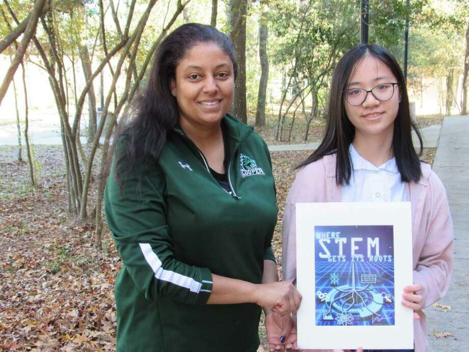 Cathy Zhang's original artwork was chosen out of more than 60 entries from area students for the upcoming SCI://TECH Exposition in partnership with the Education for Tomorrow Alliance. Photo: Courtesy Photo / Courtesy Photo
