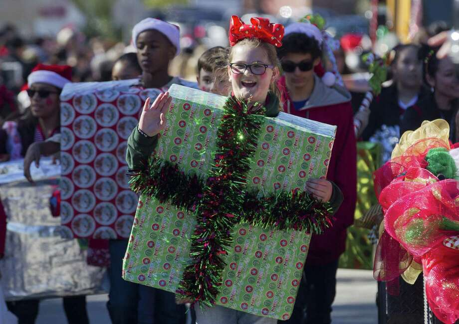 Jayde Sindelar takes part a parade during the annual Conroe Christmas Celebration, Saturday, Dec. 9, 2017, in Conroe. Photo: Jason Fochtman, Staff Photographer / Houston Chronicle / © 2017 Houston Chronicle