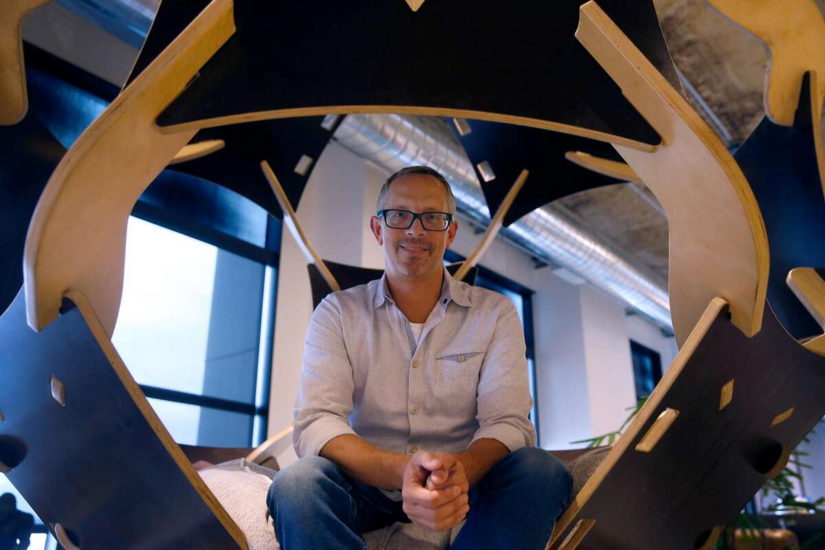 Chief Operating Officer Chris Farinacci is seen in Asana software company offices in San Francisco, Calif. on Wednesday, Dec. 5, 2018.
