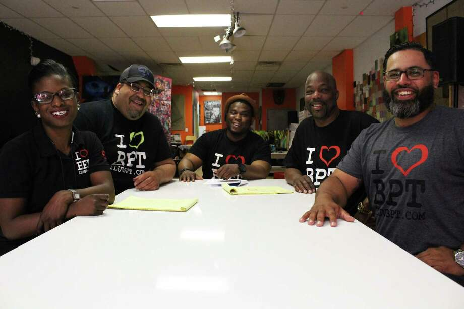 From left, Natalie Pryce, Kelvin Ayala, Razul Branch, Keith Jackson and Noel Sepulveda, founders of local community development agency I Luv Bridgeport. Photo: Jordan Grice / Hearst Connecticut Media / Connecticut Post