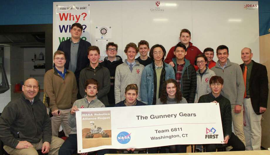 Students from the Gunnery recently received a $5,000 grant from NASA to further the efforts of the Gunnery Gears robotics team. Photo: The Gunnery