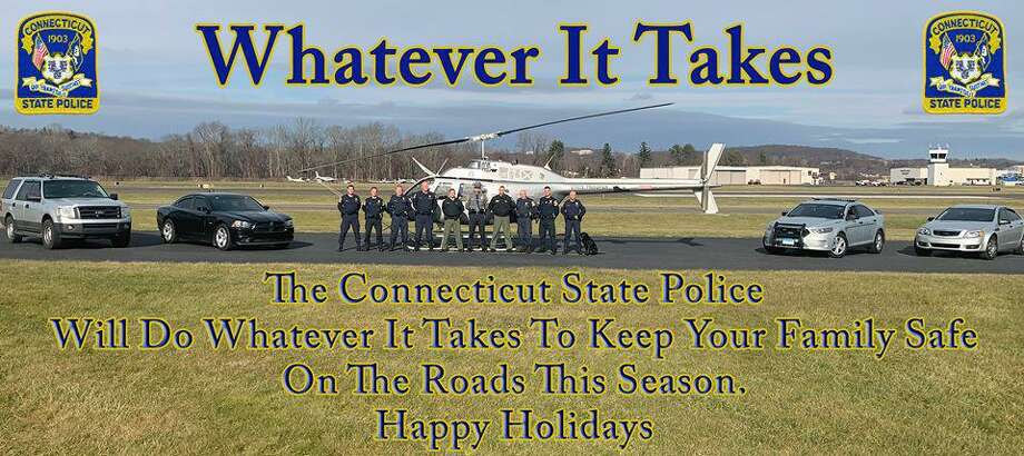 Connecticut State Police troopers took to the skies on Thursday, Dec. 6, 2018, to check on aggressive driving complaints on Interstate 84 in Danbury, Conn. Photo: Contributed Photo / Connecticut State Police / Contributed Photo / Connecticut Post Contributed