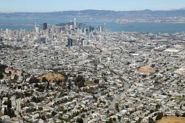 San Francisco skyline from Sutro Tower in San Francisco, Calif. on Monday, July 9, 2018.