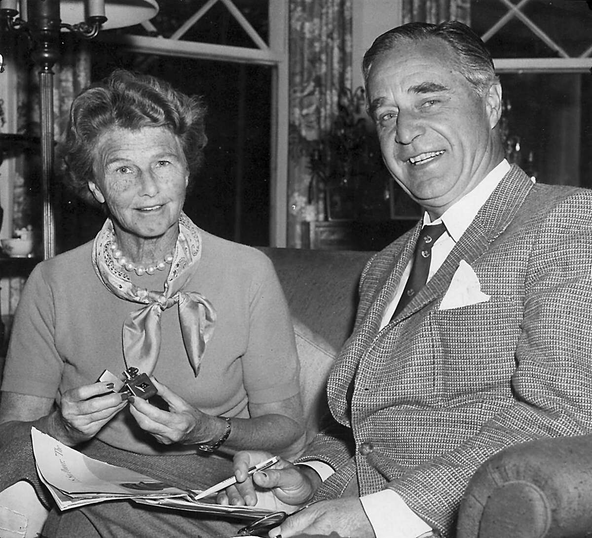 Dorothy Walker Bush, left, and Prescott Bush Sr. This was originally published in Greenwich Time on April 16, 1975.