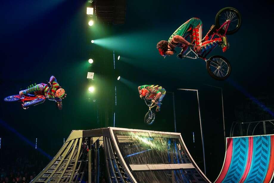 "Cirque du Soleil's ""Volta"" is inspired in part by the adventurous spirit that fuels the culture of street sports. Photo: Matt Beard, Cirque Du Soleil"