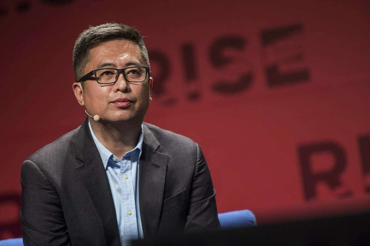 FILE - Gao Lufeng, founder and chief executive officer of Ninebot Inc., listens during the Rise conference in Hong Kong on May 31, 2016.