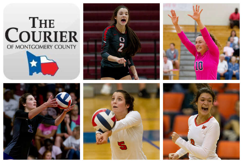 Kenzie Arent (Oak Ridge), Jill Bohnet (College Park), Makayla Bane (Willis), Georgia Murphy (The Woodlands) and Dylan Maberry (The Woodlands) are The Courier's nominees for Player of the Year. Photo: Staff Photos