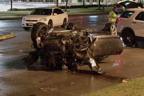 A man died early Saturday morning in Cypress after he lost control of his Chevy Camaro amid heavy rain and struck a light pole, flipping the car on its head, officials said.