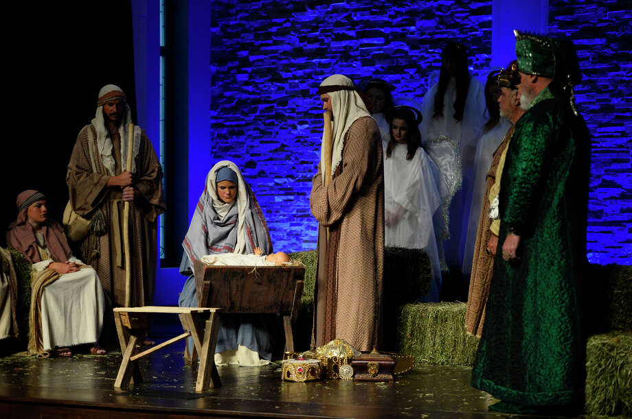 First Baptist Church live nativity photographed Dec. 8, 2018. James Durbin/Reporter-Telegram Photo: James Durbin / ? 2018 Midland Reporter-Telegram. All Rights Reserved.